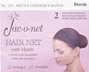 Jac-o-net Hairnet - Chignon Bun w Elastic - Blonde