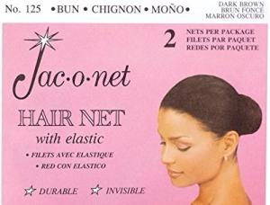 Jac-o-net Hairnet - Chignon Bun w Elastic - Dark Brown