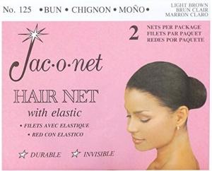 Jac-o-net Hairnet - Chignon Bun w Elastic - Light Brown