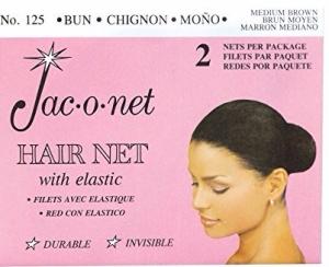 Jac-o-net Hairnet - Chignon Bun w Elastic - Medium Brown
