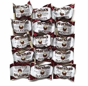 Marsha's Buckeyes - Homemade Chocolate Peanut Butter Candy, Individually Wrapped, 15pk