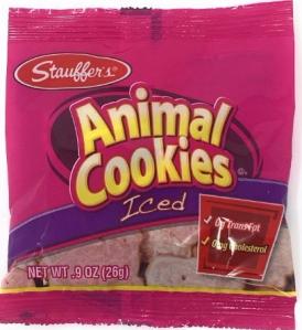 Stauffer's Mini Snack Packs Iced Animal Cookies, 20pk