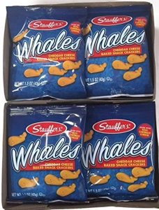 Stauffer's Snack Caddy Whales Cheddar Cheese Crackers, 12pk