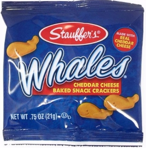 Stauffer's Snack Caddy Whales Cheddar Cheese Crackers, 20pk