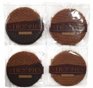 Stroopies - Gluten Free Stroopies Authentic Dutch Stroopwafels, 2 Original & 2 Chocolate, 4pk