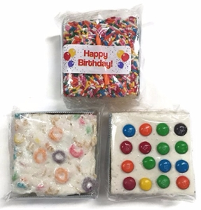 The Crispery Crispycakes Marshmallow Rice Treats Variety pk - Happy Birthday