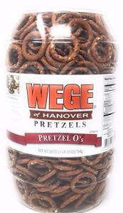 Wege of Hanover - Pretzel O's, Round Salted Pretzels 28oz