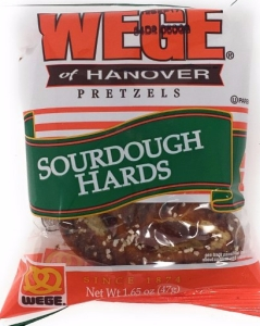 Wege of Hanover - Sourdough Hard Pretzel Snack Packs, 2 Large Pretzels Per Pack, 12pk