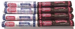 Necco Wafer Assorted and Chocolate Candy Rolls, 8pk